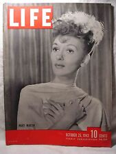 Life mag Oct 25 1943 MARY MARTIN Medal Of Honor Winners