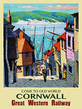 Cornwall, Cornish, navi barche, GWR treno ferrovia, Cobble, misura media METALLO