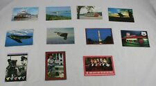 Lot of 11 Americana Postcard PaddleWheel Boat B2 Bomber Elvis Loretta Lynn A1G50