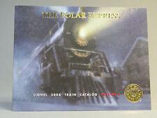 LIONEL 2004 VOLUME 1 TRAIN CATALOG polar express cover