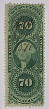 Travelstamps: 1862-71 Us Stamps Scott # R65c, used, Foreign Exchange Revenue
