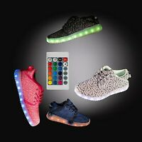 LED Light Up Shoes Sneaker Flashing for Girls Boys Kids and Youth Remote NIB
