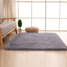 Home Shaggy Fluffy Rugs Anti-Skid Area Rug Bedroom Floor Mat Dining Room Carpet