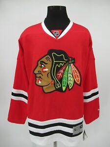 M9514 VTG Reebook NHL Chicago Black Hawks Hockey Team Jersey Size XL