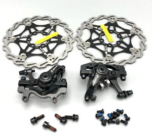 ZOOM MTB Bike Mechanical Disc Brakes Calipers Front Rear Rotors Both sides push