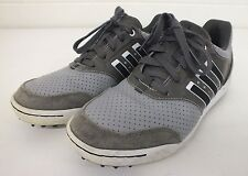 Adidas Gray Perforated Leather Tack & Field/Turf Shoes US Men's 7 EU 40 GREAT