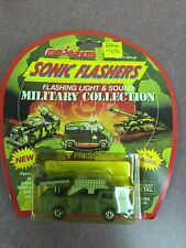 VINTAGE MAJORETTE SONIC FLASHERS DIECAST MILITARY MISSILE LAUNCHER TRUCK TOY NEW