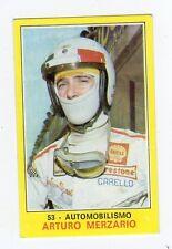 figurina PANINI CAMPIONI DELLO SPORT 1970-71 N. 53 AUTOMOBILISMO MERZARIO