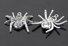 10pc Retro Tibetan Silver spider Charm Beads Pendant accessories wholesale PL207
