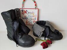 Triumph Aimilita Dr Martens grey biker black aimilie boots UK 3 EU 36 US 5