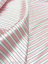 """Polka Dot Stripe Pink White Faux Silk Satin 60""""W BTY Drape Dress Scarf Blouse"""