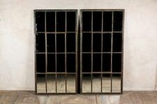 More details for large industrial vintage rusted metal frame window pane mirror