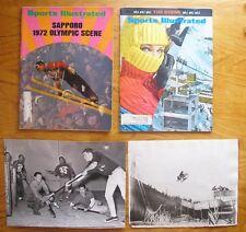 Vintage Winter Sports & Olympics Lot, Sledding, Hockey, Skiing, Wire Photos Etc