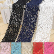 1yd Garment Accessories Elastic Nylon lace Color Fabric Ribbon For Sewing Crafts