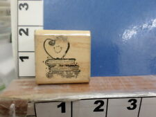 Heart with Books close to my heart teacher apple   RUBBER STAMP 5x