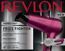 Revlon Frizz-Fighter 3 Heat 2 Speed Setting Ionic Hair Dryer - 2200W - FREE POST