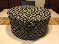 """Beautiful Deluxe Hand Made Hat Box NWT Fit 15x7"""" Marcela $116 MSRP Black"""
