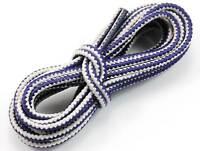 """White Purple 150cm Long Hiking Trekking Shoe Work Boot Laces Trek Hike 60"""" 6/7 E"""