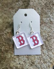 Boston Red Sox Earrings Red Sox Jewelry MLB Red Sox Baseball Earrings Boston