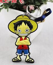 One Piece Straw Hat Luffy Keychain Double Sided 2 Inches US Seller