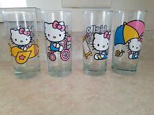 Set Of Four Sanrio HELLO KITTY Drinking Glasses - 2013