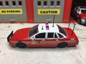 JOHNNY LIGHTNING FIRE CHIEF FORD CROWN VIC CUSTOM KITBASH UNIT
