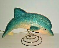 "Dolphin 10.5"" Desk Table Glow Lamp Night Light; Plastic Popcorn"