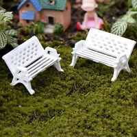 5pcs Garden Ornament Miniature Park Seat Bench Craft Fairy Dollhouse DecorRDUK
