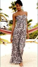 Women's NEXT GERI Long Maxi LEOPARD ANIMAL Strapless Dress SIZE UK 10
