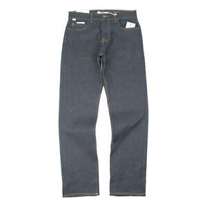 Element Mens E03 Regular Fit Jeans Pants Dark Denim 32 New