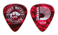Roger Waters Signature Us + Them Red Pearl Guitar Pick #2 - 2017 Tour Pink Floyd