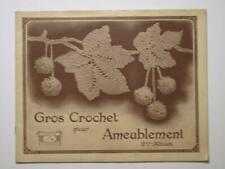 Livret GROS CROCHET AMEUBLEMENT - 2° ALBUM. - Collection Cartier & Bresson 1926