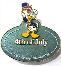 `Disney Pin 68904 WDI Name Tag Donald Duck 4th July Patriotic USA Cast LE 300