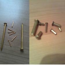 Messing Halbrundnieten DIN 660 Senkkopfnieten DIN 661 oder Nägel Vollnieten Ms