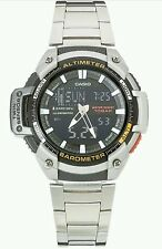 Casio Sport Men's Twin Sensor Combi Bracelet Watch. New In Box.