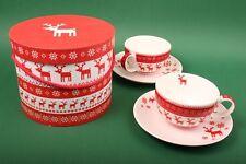 """PPD Cappuchino-Tassen Set """"Magic Christmas"""" Weihnachten X-Mas Christmas Geschenk"""