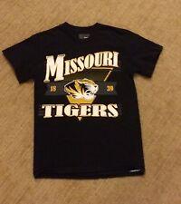 Missouri Tigers Mizzou Black Adult Small T-Shirt Football NCAA **FAST SHIPPING**