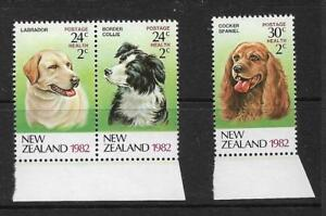 1982 Health Dogs set 3 Stamps Complete MUH/MNH as Issued