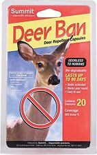 SUMMIT DEER BAN CAPSULES REPELLENT 20 PACK - 90 DAY 3000 FT. FREE SHIP IN USA