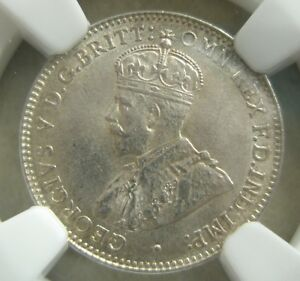 AUSTRALIA 3 pence Threepence 1919 NGC AU 58 luster AU - UNC Silver