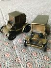 New -Vintage -Banthrico Cast Iron Car Bank Lot of 2 Banks -Cicero State Bank, IL