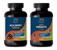weight loss powder - ACAI BERRY – ANTI-PARASITE COMBO 2B - black walnut and worm