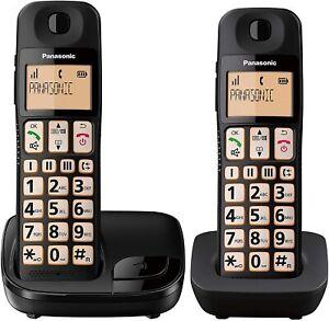 Panasonic KX-TGE112 Twin Big Button Cordless Phone