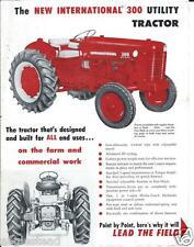 Farm Tractor Brochure - International - IH - 300 Utility - c1956 (F3044)