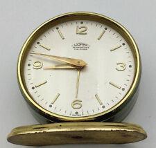 Looping horlogerie Suisse Réveil metal doré Swiss alarm clock