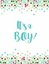 It's a Boy: Baby Shower Guest Book Sign In/Guest Registry with Gift Log,-,