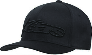 New Mens Alpinestars Blaze Flexfit Hats Astar Hat Black Red White Grey Moto BMX