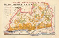 Loire vignoble vin carte vouvray. noizay vernou reugny chançay parçay larmat 1946