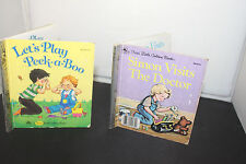 SIMON VISITS THE DOCTOR & LET'S PLAY PEEK  Vintage First Little Golden Books