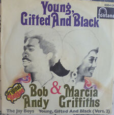 "7"" 1970 REGGAE RARE MINT-! BOB ANDY & MARCIA GRIFFITHS : Young Gifted And Black"